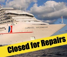 Additional Carnival Splendor cruises canceled // (c) 2010 Carnival Cruise Lines