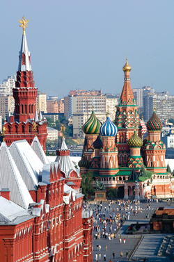 A view of Red Square from The Ritz-Carlton, Moscow  // (c) The Ritz-Carlton