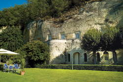 "Les Hautes Roches is a ""troglodyte"" hotel — despite being so luxurious. // (c) Relais & Chateau Les Hautes Roches"