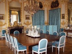 Visitors to Versailles will see a renovated palace, including Louis XVI's council chamber shown here. // (c) Susan James