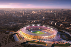A 65-foot-high mural will envelop the new Olympic Stadium. // (c) London 2012 Olympic and Paralympic Games