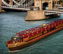 A rendering of the Royal Barge, which will cruise the River Thames during the Diamond Jubilee Pageant this June // © 2012 VisitBritain