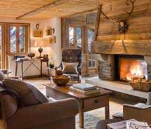 Chalet Pelerin is a new five-bedroom luxury chalet in the French Alps. // © 2013 Eleven Experience