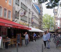 Cologne offers several cafes and eateries along the banks of the Rhine River. // © 2012 Bekah Wright
