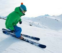 The Lake Geneva Region is a favorite winter retreat for skilled skiers.  // (c) 2013 Lake Geneva Region Tourist Office