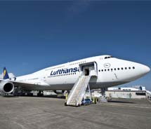 Lufthansa's upgraded economy product aims to fill the gap between Business and Economy classes. // (c) 2012 Lufthansa