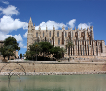 Mallorca's Gothic cathedral in Palma faces the sea. // © 2012 Mindy Poder