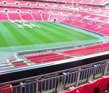 The view from the Royal Box at Wembley Stadium. // (c) 2012 Samantha Davis-Friedman