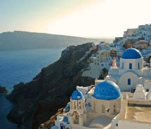 The charming village of Oia on the northern end of Santorini // © 2011 Marsthird12