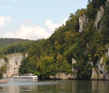 Ferries travel through the Danube Gorge. // (C) 2011 Janeen Christoff