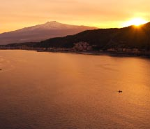 Mount Etna at sunset // © 2012 Thinkstock