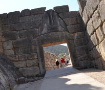 The Lion Gate leads to the Acropolis of Mycenae. // © 2013 Skye Mayring