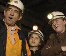 "<p align=""left"" class=""small_caption"">The 50-minute walking tour takes guests some 300 feet underground to see the mine's original mining sites. // ©..."