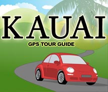 The new Kauai GPS Tour Guide app for the iPhone helps travelers find their way around the Garden Isle. // © 2011 HawaiiGaga.com