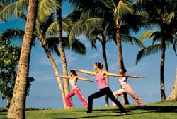 The JW Marriott's fitness program is built around its location. // © JW Marriott Ihilani Resort & Spa
