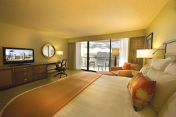"The rooms at the Waikiki Beach Marriott have been redone, but the ""greenness"" of the resort also impresses guests. // (c) Waikiki Beach Marriott"