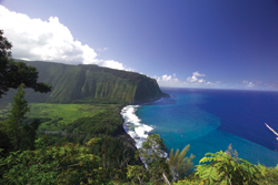 The view of Waipio Valley from the lookout is one of the best in the islands. // (c) Hawaii's Big Island Visitor Bureau