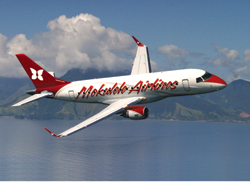 Mokulele Airlines already has partnerships with Alaska Airlines and WestJet. // (c) Embraer