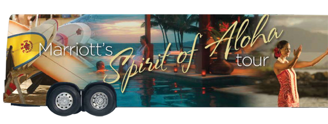 A rendering of Marriott's Spirit of Aloha bus // (c) Marriott
