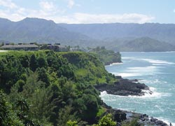 A seaside, cliff-top hole at the revamped Makai Golf Club // (C) 2010 St. Regis Princeville Resort