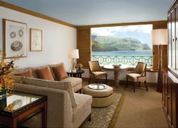 A spacious guestroom at The St. Regis Princeville Resort // (c) 2010