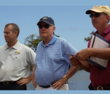 Jack Nicklaus (center) during his recent visit to Kauai Lagoons Golf Club. // © 2010 Kauai Lagoons Golf Club