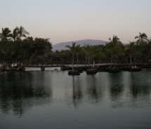 One of the fishponds at Mauna Lani Resort, with full moon. //  © 2010 Mauna Lani Bay Hotel & Bungalows