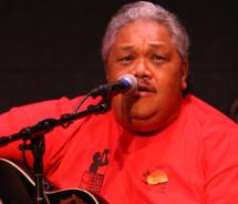 Slack key guitarist Kevin Brown at George Kahumoku Jr.'s Masters of Hawaiian Music show. // © 2010 John Henry Photos