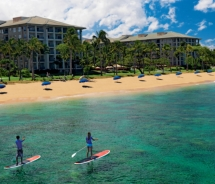 Couple paddleboarding, Westin Kaanapali Ocean Resort Villas // © 2011 Starwood Hotels & Resorts