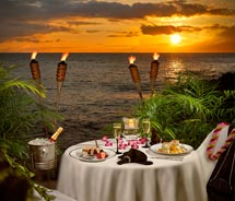 Napili Kai Beach Resort's new Na Hoku dinner is designed for couples. // © 2010 Napili Kai Beach Resort