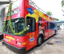 Double decker Aloha Bus // © 2011 Polynesian Adventure Tours/Gray Line Hawaii