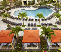 The renovated Tapa Pool at Hilton Hawaiian Village Waikiki Beach Resort features an expanded pool deck and more seating. // (c) 2012 Hilton Hawaiian...