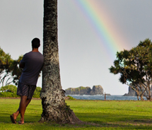 Hawaii does get rain, with the leeward sides (south and west) getting less rainfall than the windward regions. // © 2012 Hawaii Tourism Authority/Tor...