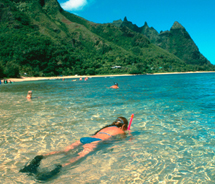 Makua Beach is one of the best snorkeling spots in Kauai. // (c) 2012 Kauai Visitors Bureau