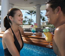 The Kea Lani Swim Up Bar is a romantic location for couples. // © 2012 Fairmont Kea Lani, Maui.