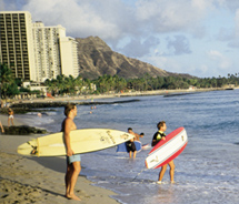 Waikiki Beach's shoreline is currently being replenished. // (c) 2012 Joe Solem
