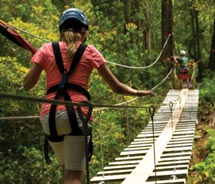 Two suspension bridges are included in Big Island Eco Adventures' (BIEA) zipline course. // © 2010 Big Island Eco Adventures<br />