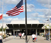 Entrance to the new USS Arizona Memorial Visitor Center on Oahu // © 2010 National Park Service