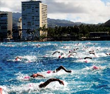 The annual Waikiki Roughwater Swim // © 2011 Waikiki Roughwater Swim