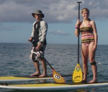 Stand-up paddle boarding is a growing trend in Hawaii. // © 2011 Stand-Up Paddle Boarding School