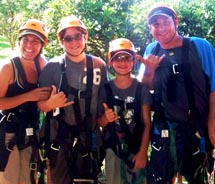 A family portrait, during the ziplining adventure at the Maui Tropical Plantation. // © 2011 Samantha Davis-Friedman
