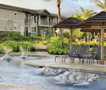 The children's pool at the Westin Princeville features turtle-shaped fountains. // © 2011 Starwood Hotels & Resorts