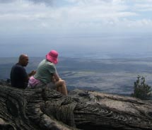 Warren Costa (left) provides insight into Hawaii's geology and culture.// © 2011 Native Guide Hawaii