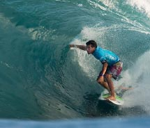 Jeremy Flores competing in the Vans Triple Crown on Oahu // © 2011