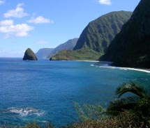 Kalaupapa Peninsula on Molokai's north shore is a National Historical Park. // © 2011 Molokai Outdoor Activities
