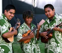 Student bands will perform at the Maui Ukulele Festival. // © 2012 ShaneTegarden Photography