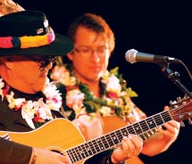 Dennis Kamakahi and Stephen Inglis performing at the Kauai Slack-Key Guitar Festival // © 2012 Milton Lau