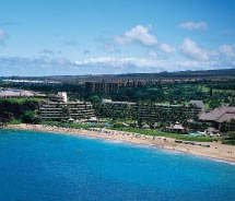The shoreline of Sheraton Maui Resort and Spa is marked by a lava outcropping. // © 2012 Sheraton Maui Resort and Spa