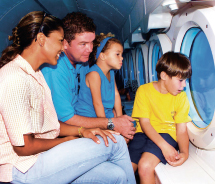 Submarines offer ample viewing with back-to-back seating. // © 2012 Atlantis Adventures