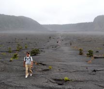 The steaming floor of the Kilauea Iki Trail at Hawaii Volcanoes National Park  // © 2012  Mindy Poder